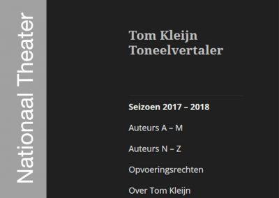 Tom Kleijn Toneelvertaler